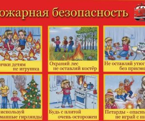 Правила пожарной безопасности важно знать и детям!